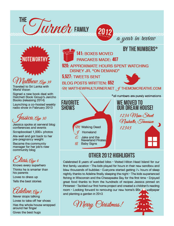Creative Christmas Letter Ideas  Infographic Christmas Letter The Mom Creative