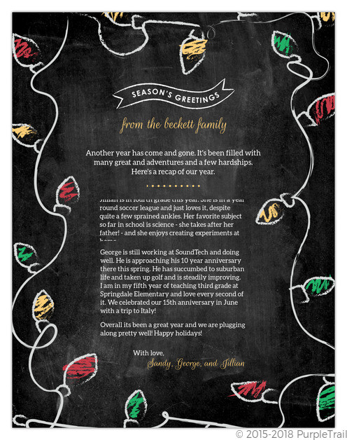 Creative Christmas Letter Ideas  Christmas Letter Ideas & Inspiration From PurpleTrail