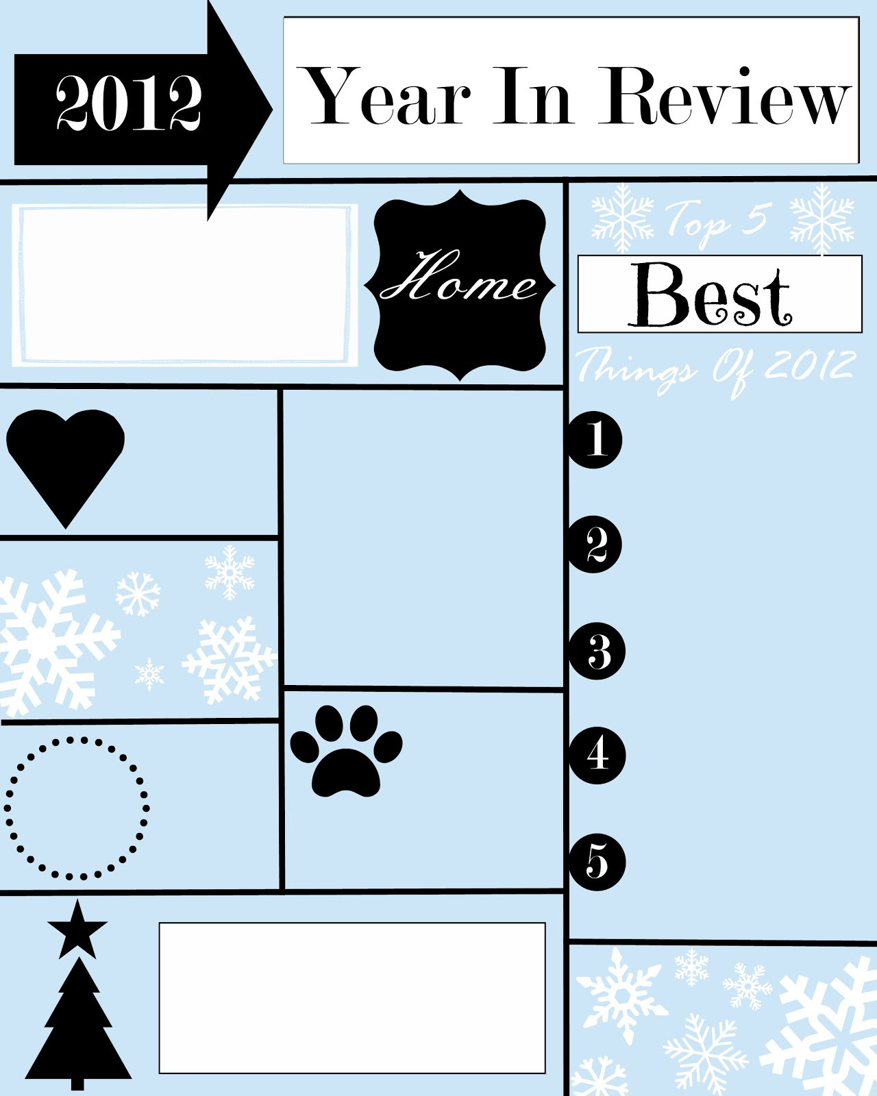 Creative Christmas Letter Ideas  A YEAR IN REVIEW CHRISTMAS LETTER AND TEMPLATE StoneGable