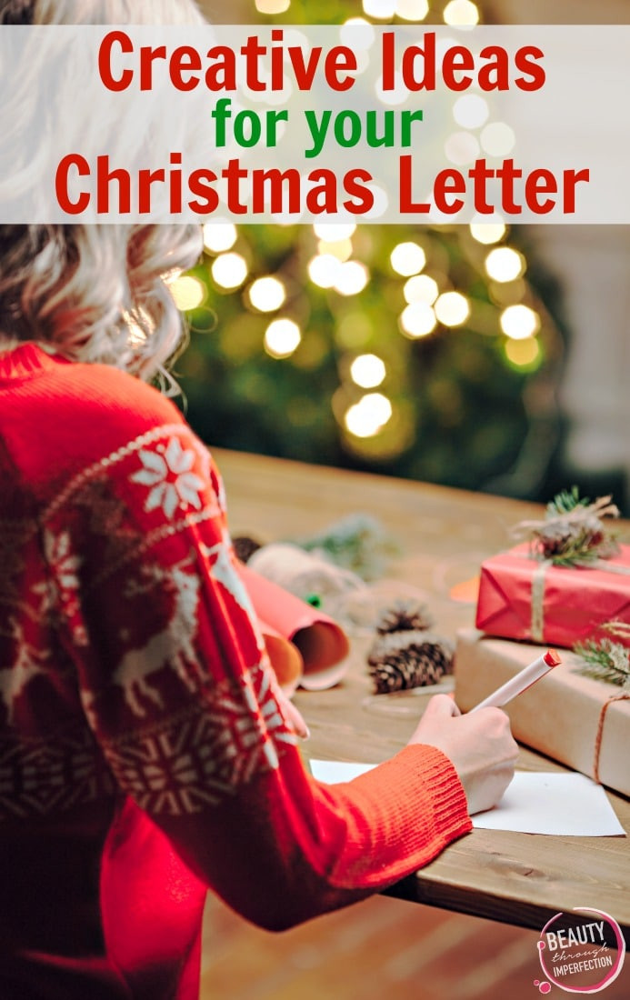Creative Christmas Letter Ideas  How to write an amazing Christmas letter Beauty Through