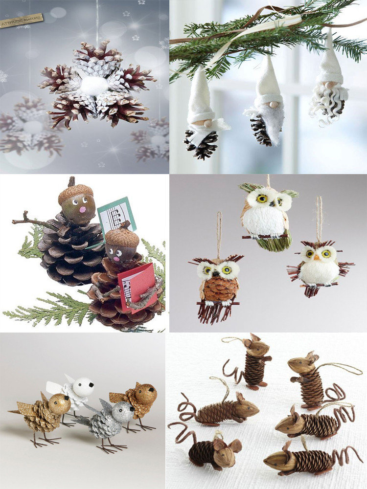 Cute DIY Christmas Decorations  40 Easy and Cute DIY Pine Cone Christmas Crafts