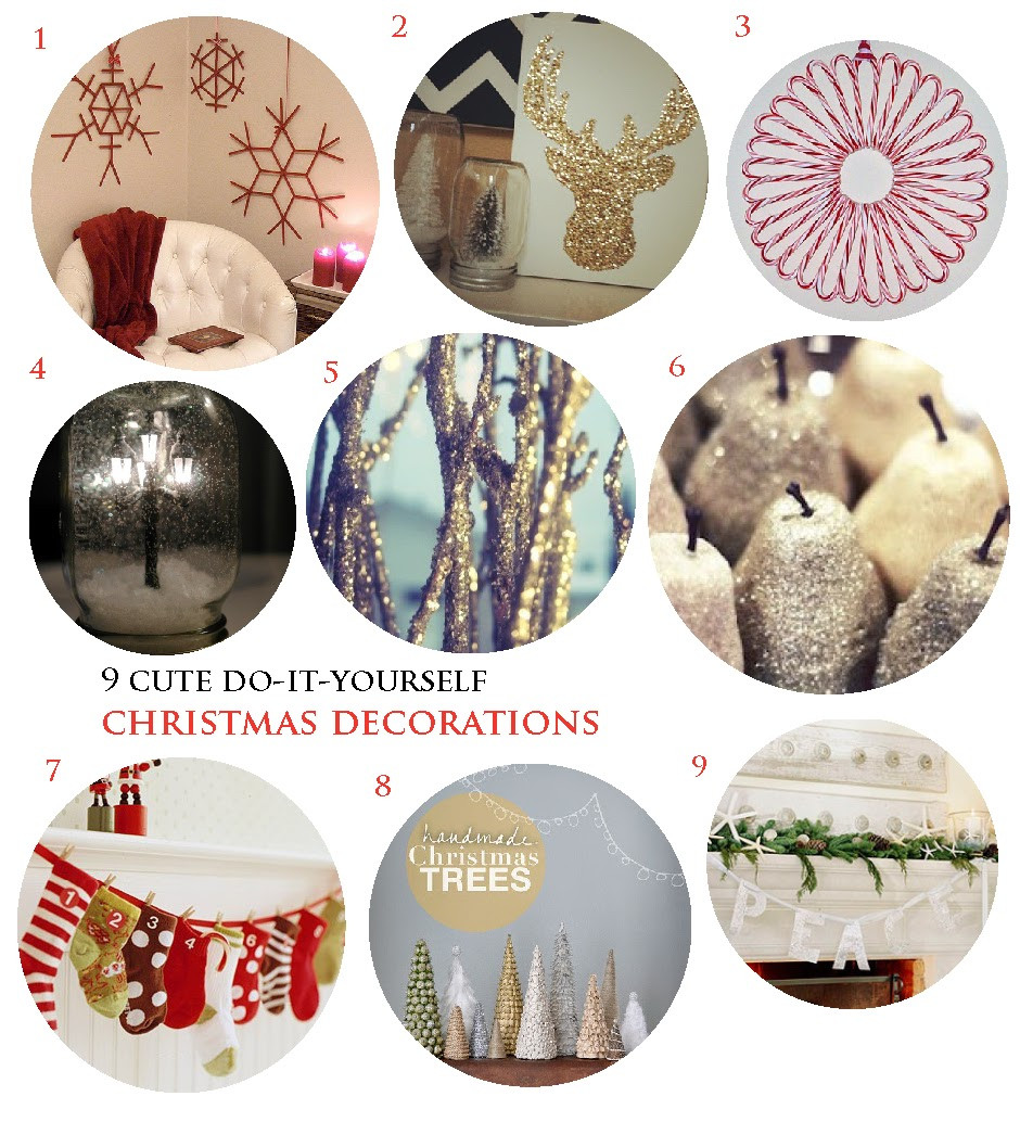 Cute DIY Christmas Decorations  The Luckiest 9 Cute DIY Christmas Decorations