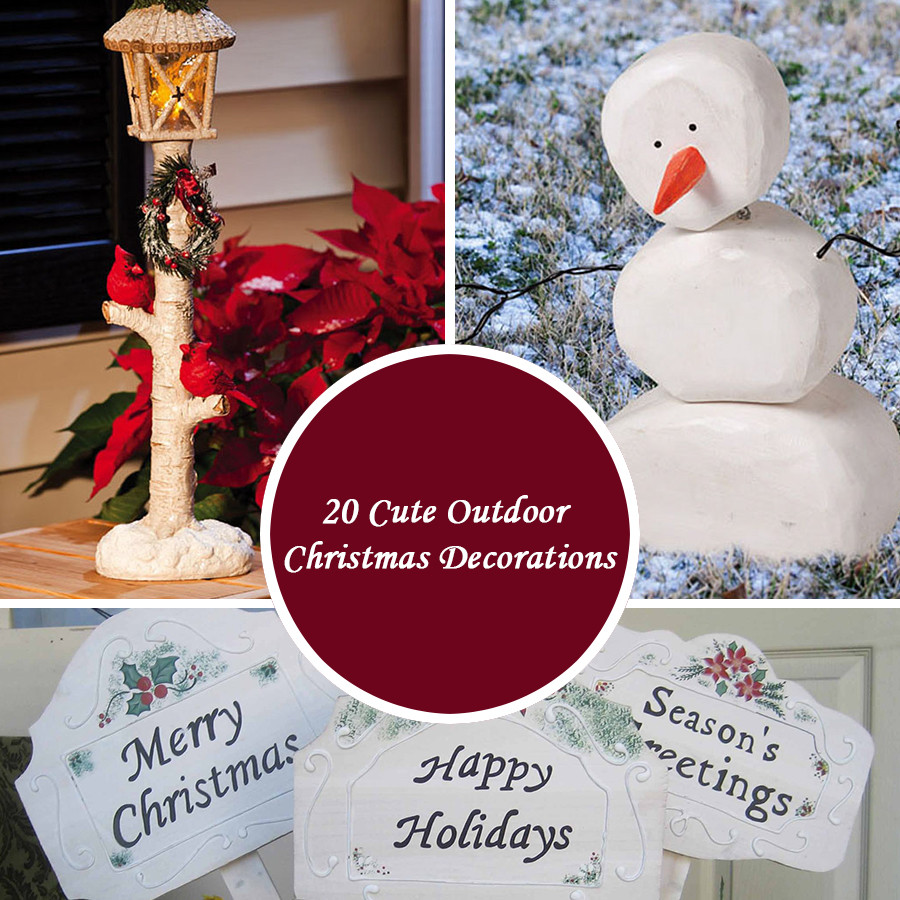 Cute DIY Christmas Decorations  20 Cute Outdoor Christmas Decorations