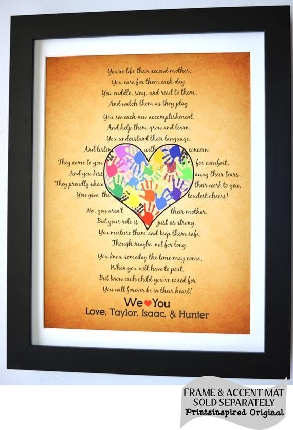 Daycare Provider Christmas Gift Ideas  Personalized Daycare Provider Gifts For Teacher by
