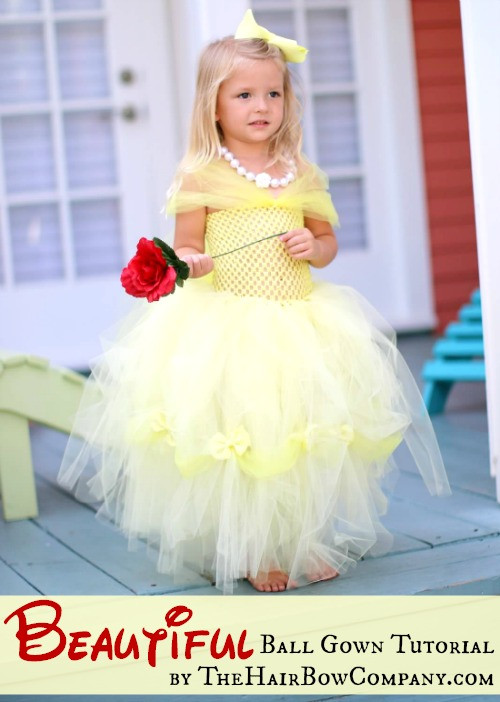 DIY Belle Costume  45 DIY Tutu Tutorials for Skirts and Dresses