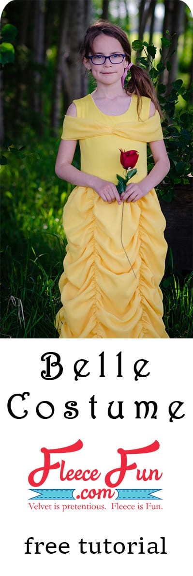 DIY Belle Costume  Belle Costume Tutorial Beauty and the Beast free pattern