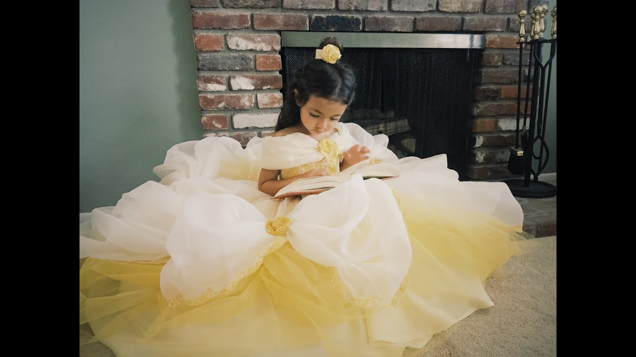 DIY Belle Costume  DIY Belle Dress Tutorial from Beauty and the Beast