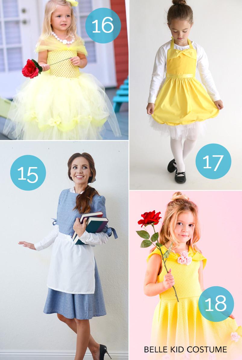 DIY Belle Costume  huge list of DIY princess costumes DIY Snow white costume