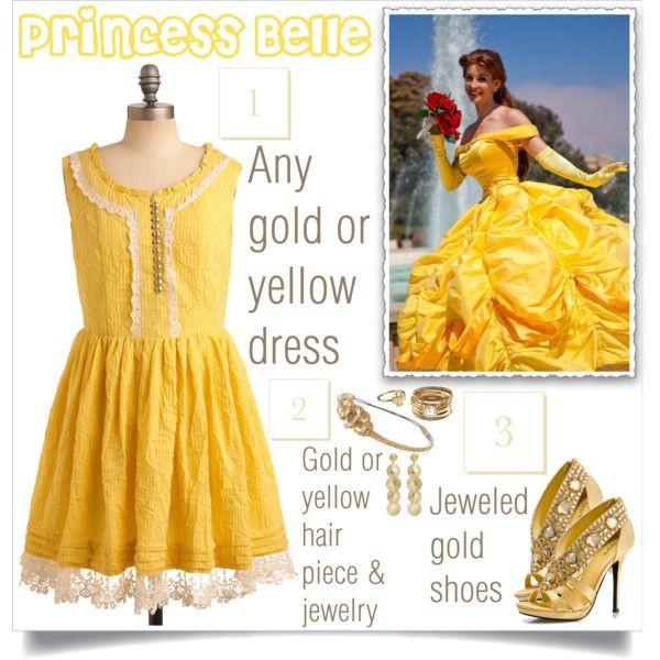 "DIY Belle Costume  ""DIY Belle Costume"" Disney Pinterest"