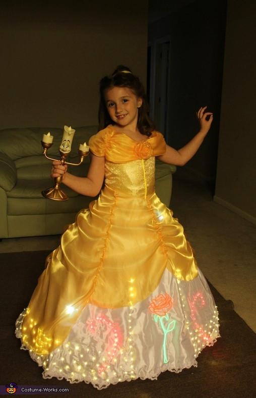 DIY Belle Costume  Electrical Light Parade inspired Belle Costume