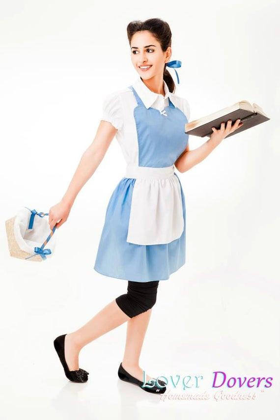 DIY Belle Costume  BELLE PROVINCIAL costume APRON womens full costume aprons