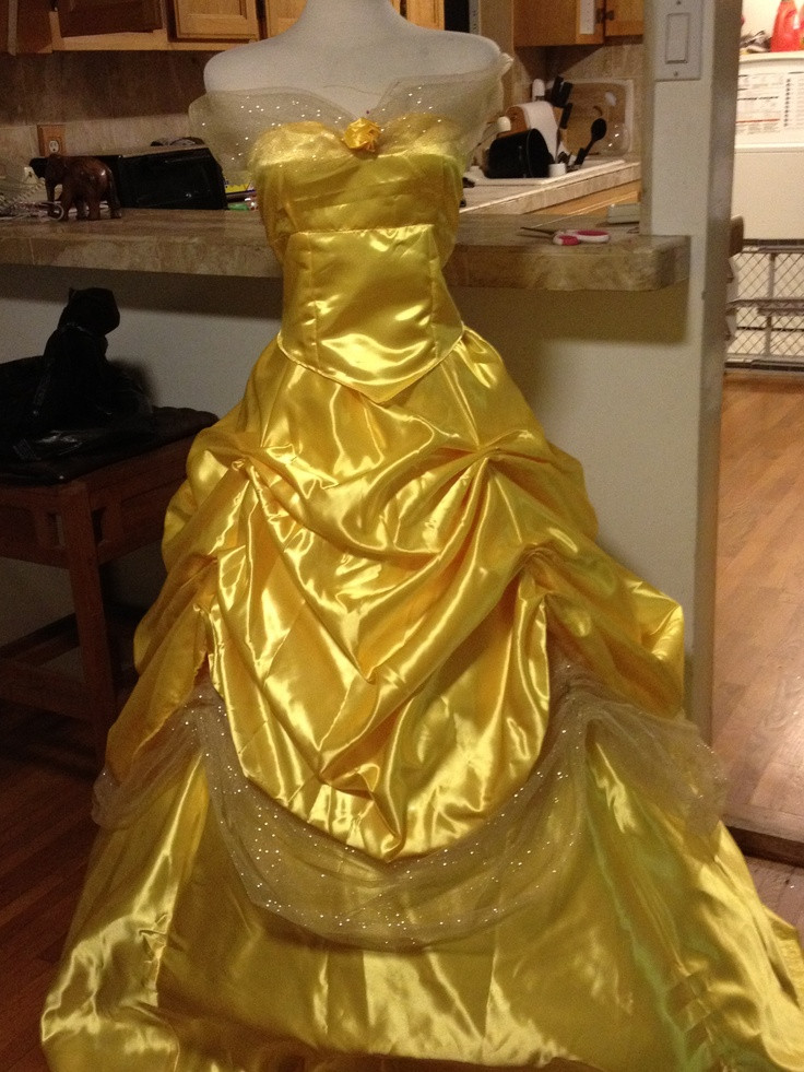 DIY Belle Costume  My homemade Belle Costume not bad for a Tailor s