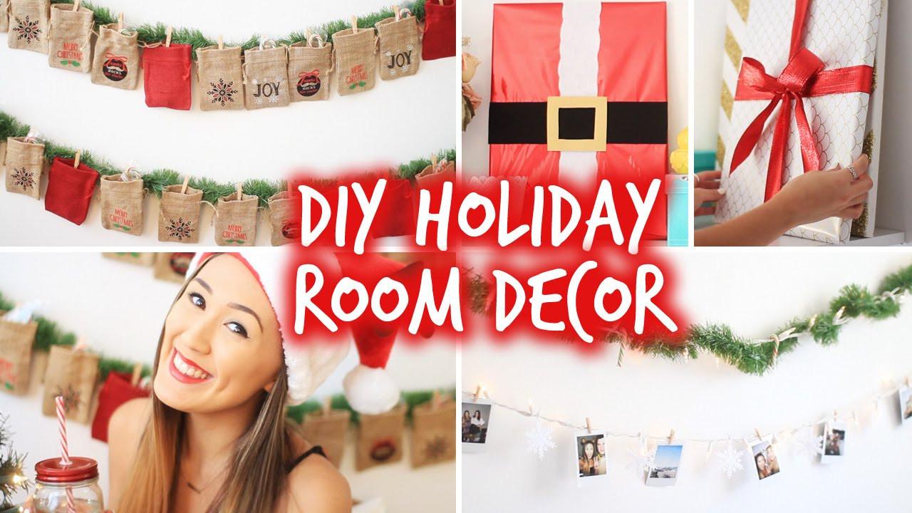 DIY Christmas Bedroom Decor  DIY Holiday Room Decor Wall Decor & Christmas Advent