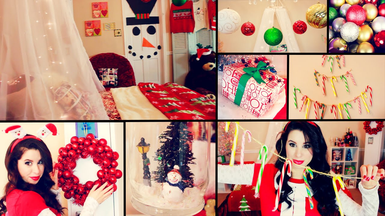 DIY Christmas Bedroom Decor  DIY Cute Christmas Room Decor and Organization