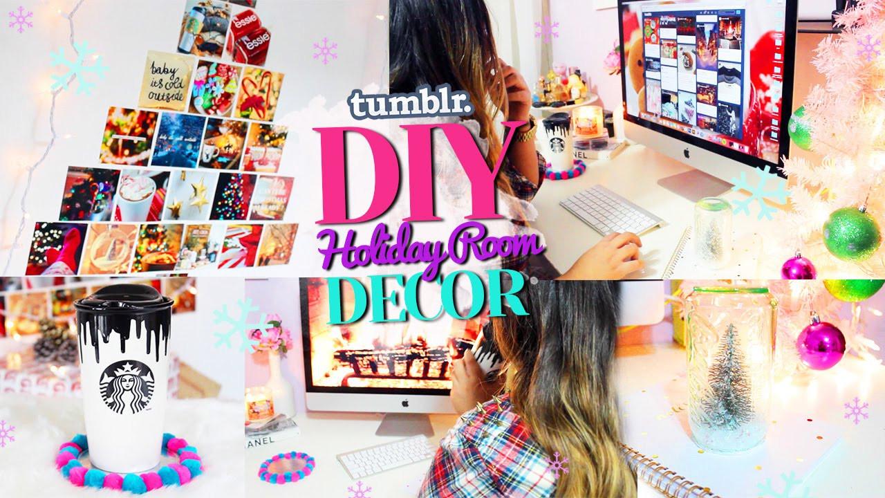 DIY Christmas Bedroom Decor  DIY TUMBLR Holiday Room Decor Get Inspired for Christmas