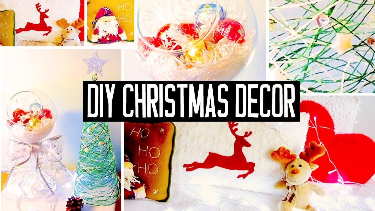DIY Christmas Bedroom Decor  DIY Christmas room decorations No sew pillow easy tree