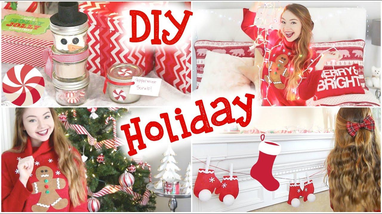 DIY Christmas Bedroom Decor  DIY Holiday Room Decor Sweater & Gifts