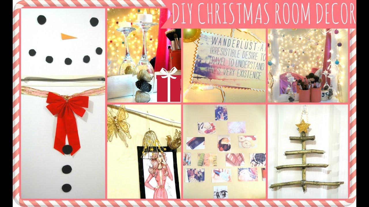 DIY Christmas Bedroom Decor  EASY DIY Christmas Décor Ideas