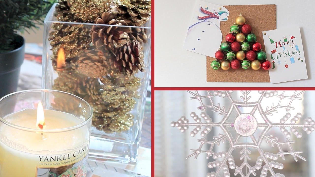 DIY Christmas Bedroom Decor  DIY 3 Holiday Room Decor Ideas