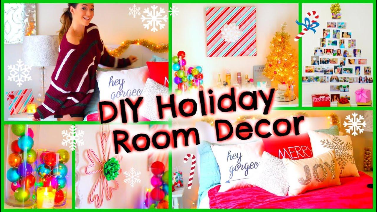 DIY Christmas Bedroom Decor  DIY Holiday Room Decor ♡ Fun Christmas Decorations for