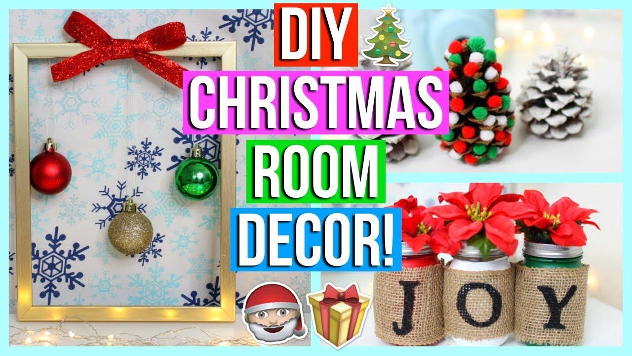 DIY Christmas Bedroom Decor  DIY Christmas Room Decor 2017