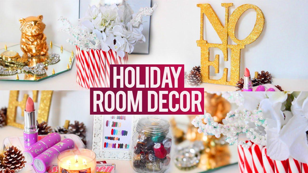 DIY Christmas Bedroom Decor  DIY TUMBLR Holiday Room Decorations Easy Fun and