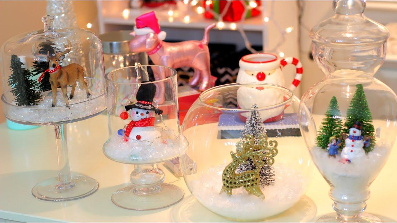 DIY Christmas Bedroom Decor  DIY Christmas Winter Room Decor Christmas Jars