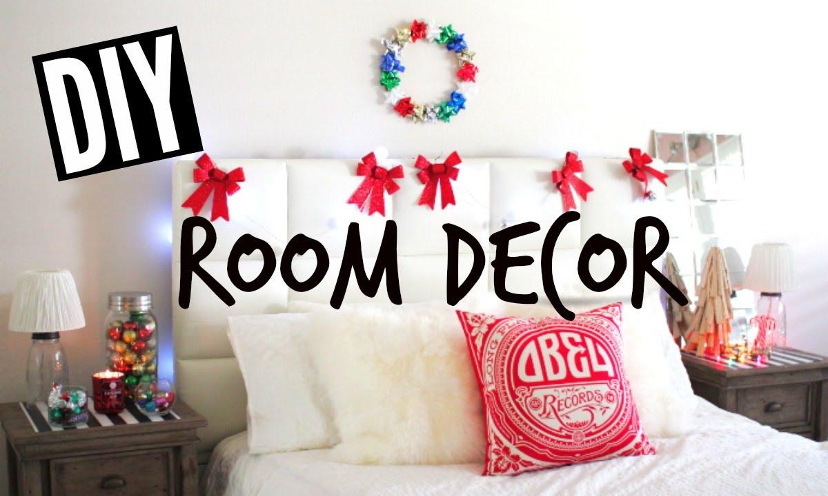 DIY Christmas Bedroom Decor  DIY Holiday Room Decor Easy Tumblr Christmas Room
