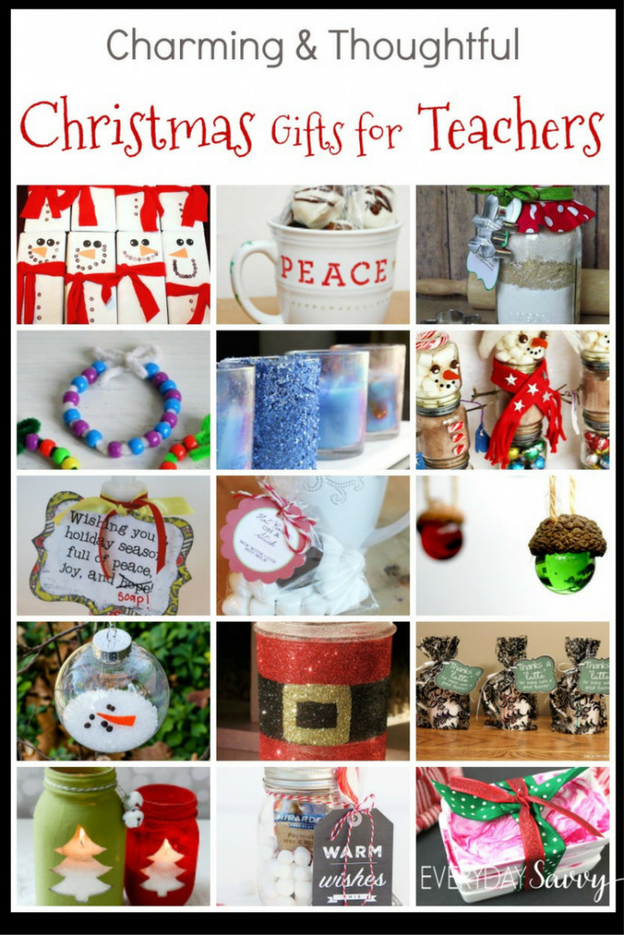 DIY Christmas Gifts For Teacher  Teacher Christmas Gift Ideas Easy to Buy or DIY Gifts