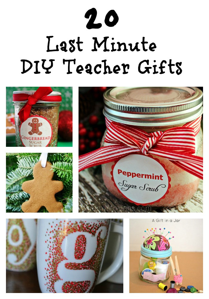 DIY Christmas Gifts For Teacher  20 Last Minute DIY Teacher Gifts diy ts Trippin