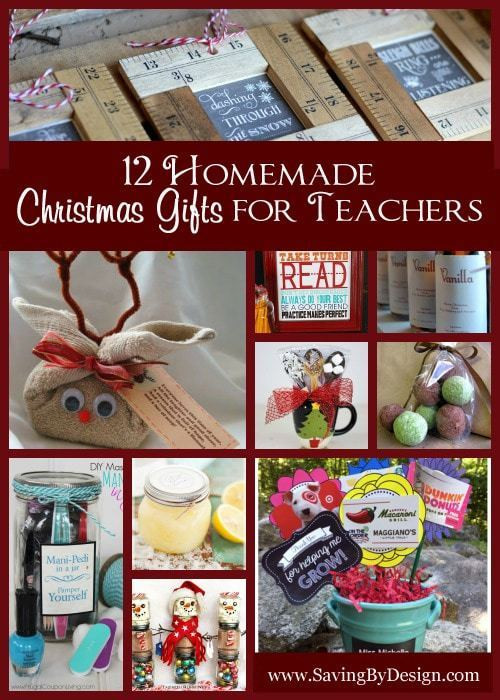DIY Christmas Gifts For Teacher  12 Homemade Christmas Gifts for Teachers