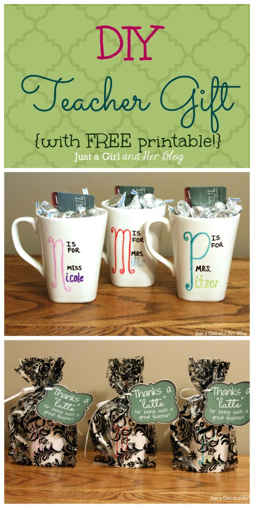 DIY Christmas Gifts For Teacher  DIY Teacher Gift with FREE Printable