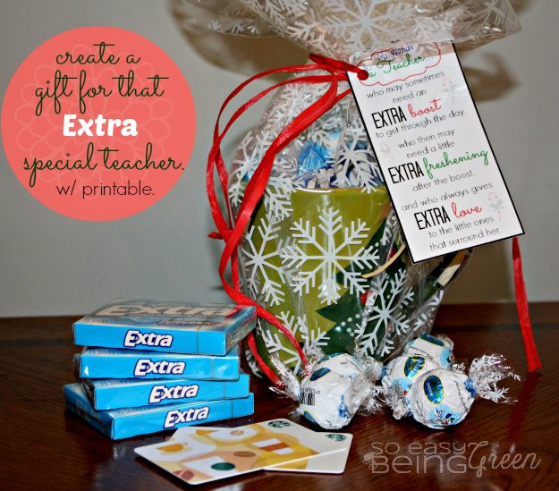 DIY Christmas Gifts For Teacher  DIY Teacher Gifts for Christmas featuring Extra Gum for