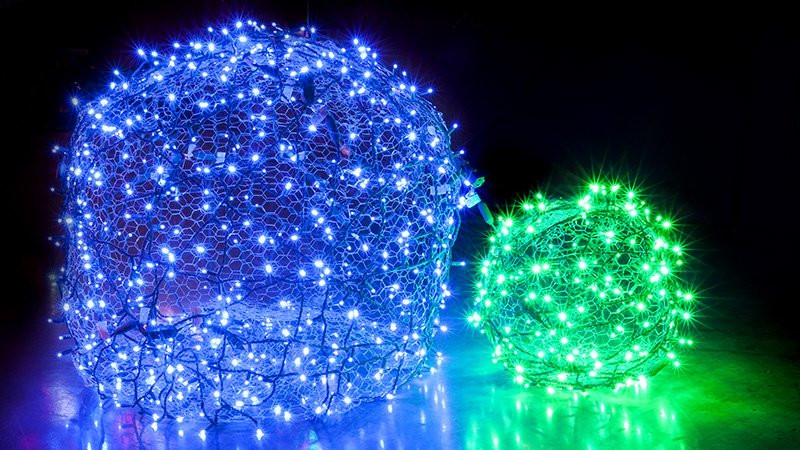 DIY Christmas Light Balls  How to Make Christmas Light Balls