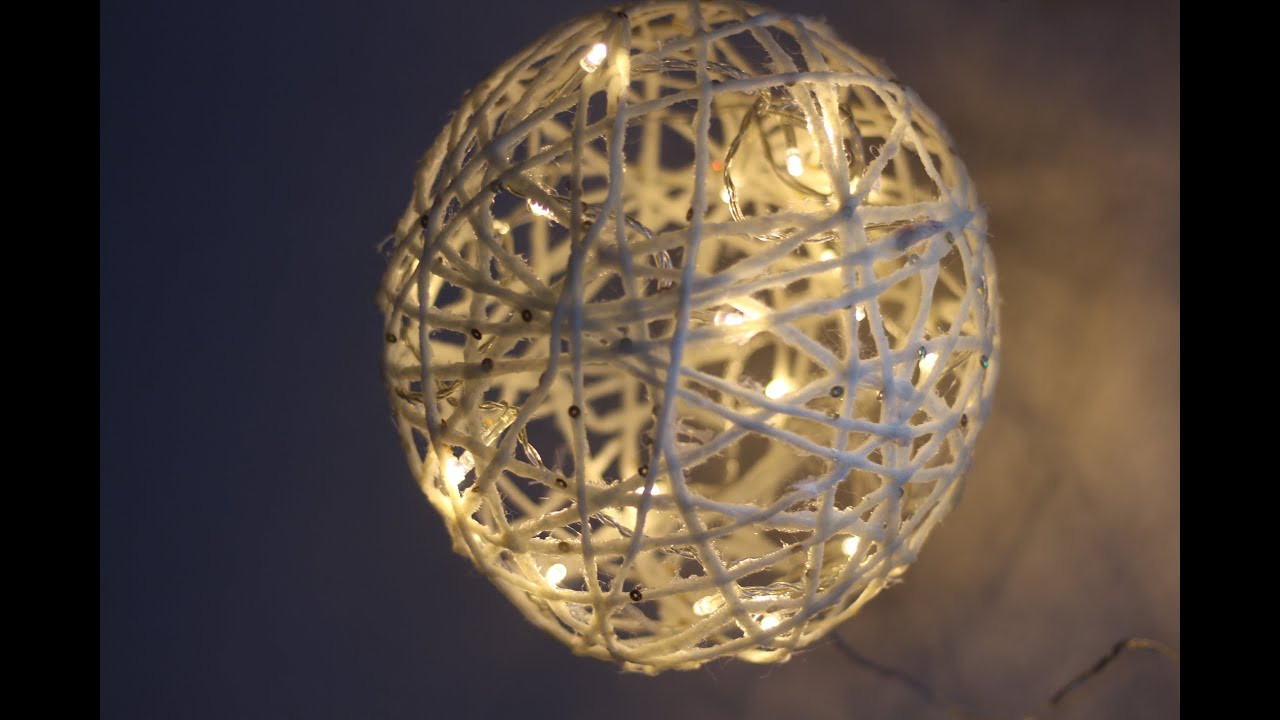 DIY Christmas Light Balls  DIY CHRISTMAS LIGHT BALL