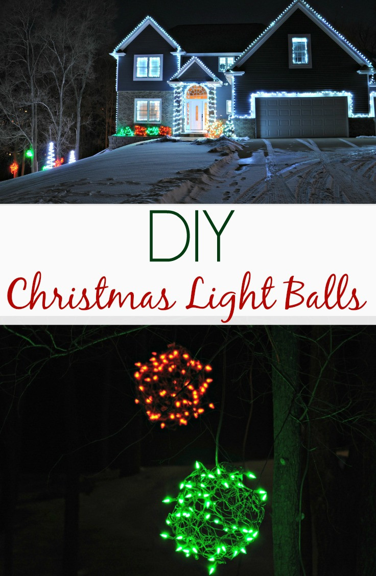 DIY Christmas Light Balls  Lighted Christmas Balls Outdoor Lights 2013 — Decor and