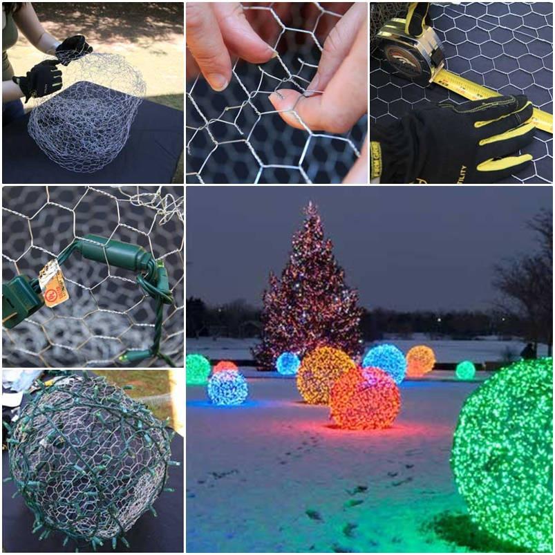 DIY Christmas Light Balls  How to Make Christmas Light Balls Tutorial