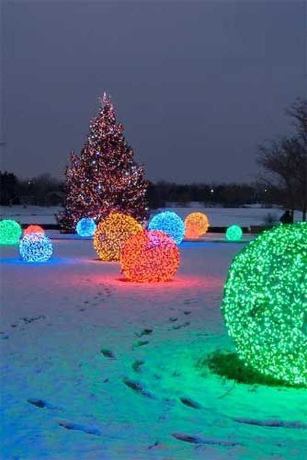 DIY Christmas Light Balls  Outdoor Christmas Decorations For A Livelier And More