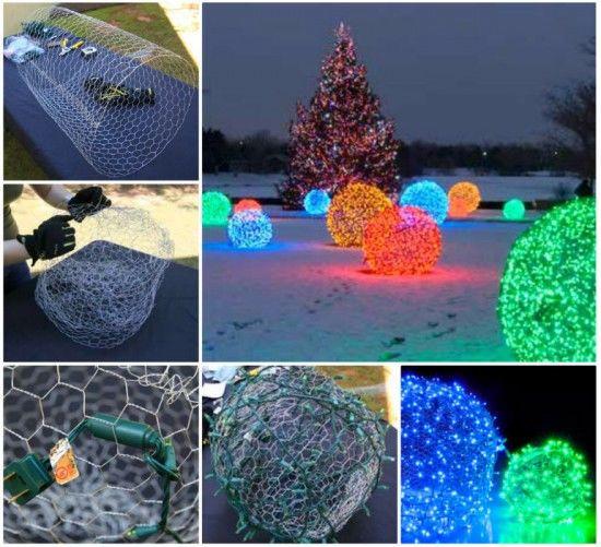 DIY Christmas Light Balls  DIY Christmas Light Balls s and for