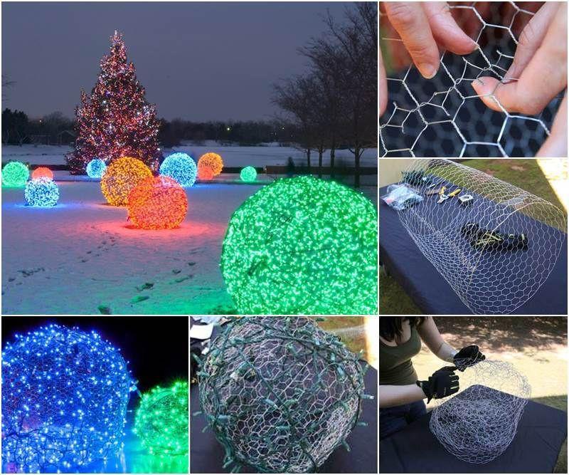 DIY Christmas Light Balls  How To Make Christmas Light Balls s and