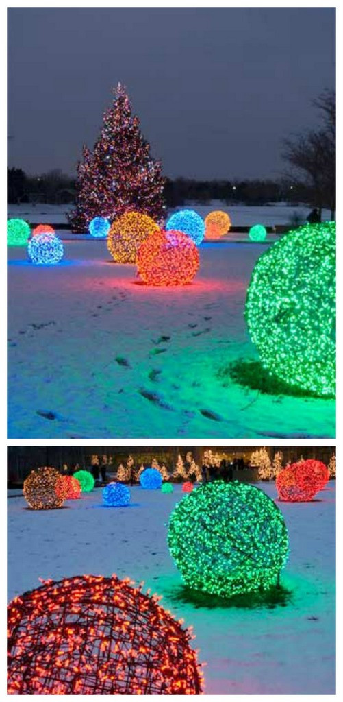 DIY Christmas Light Balls  Craftionary
