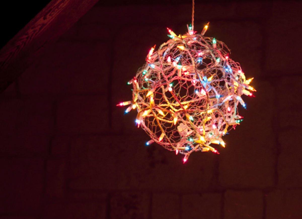 DIY Christmas Light Balls  DIY Christmas Light Ball DIY Christmas Decorations 10