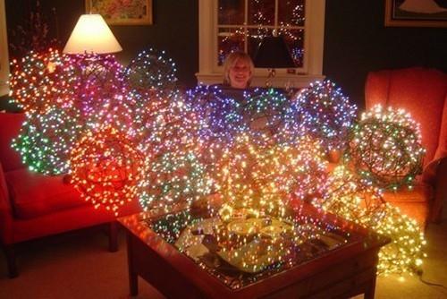 DIY Christmas Light Balls  Make A Lighted Christmas Ball