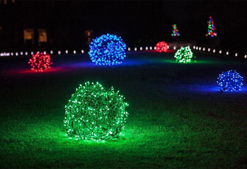 DIY Christmas Light Balls  Outdoor Christmas Yard Decorating Ideas