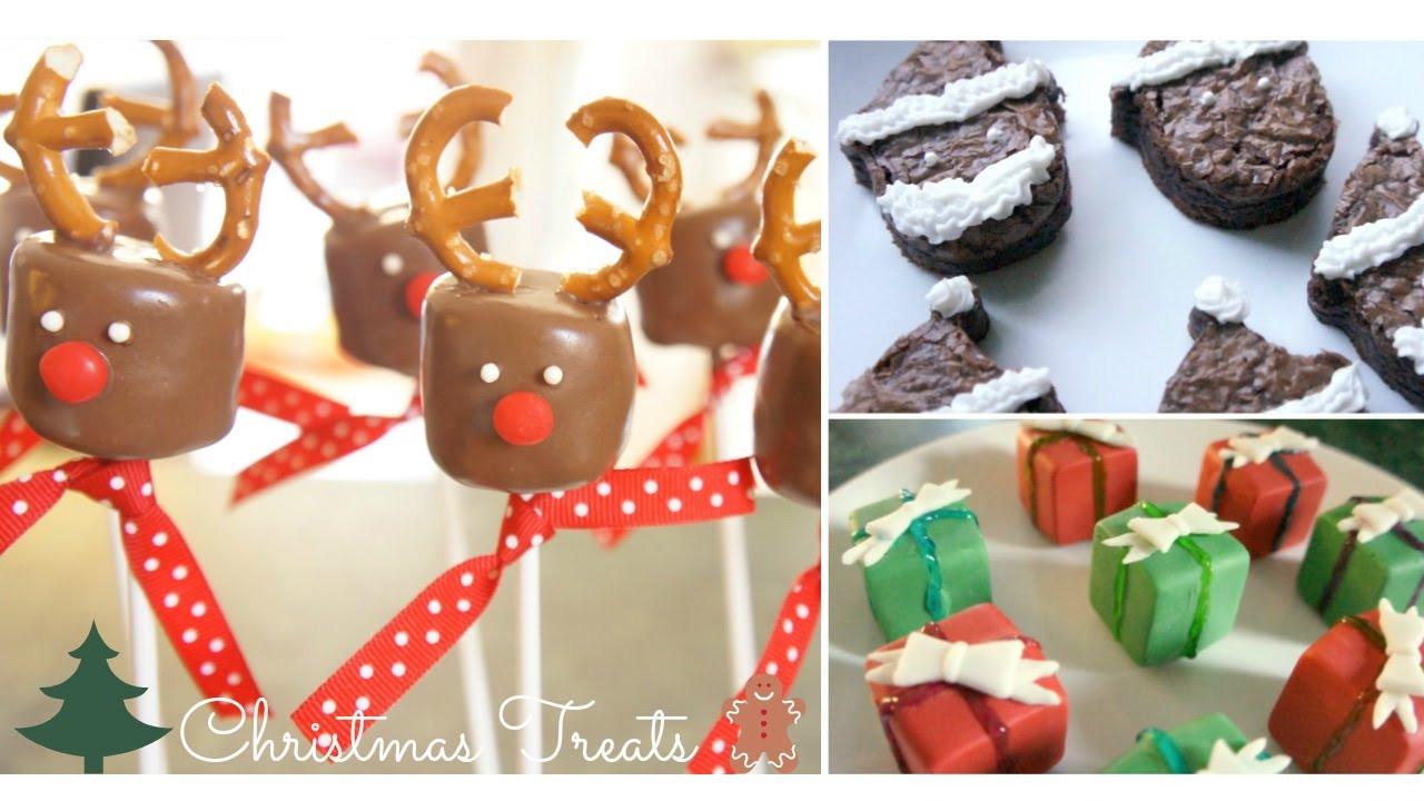 DIY Christmas Treats  3 DIY Christmas Treats Reindeer Marshmallow Pops Santa