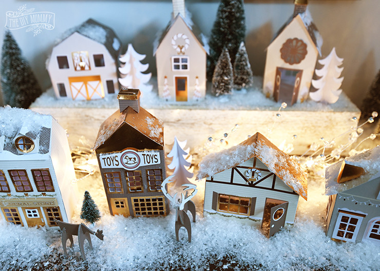 DIY Christmas Village  Our DIY $15 Paper Christmas Village