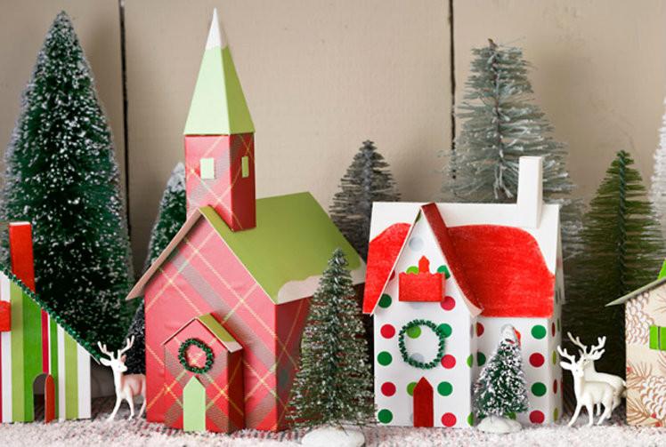 DIY Christmas Village  30 Festive DIY Christmas Decor Ideas A Bud