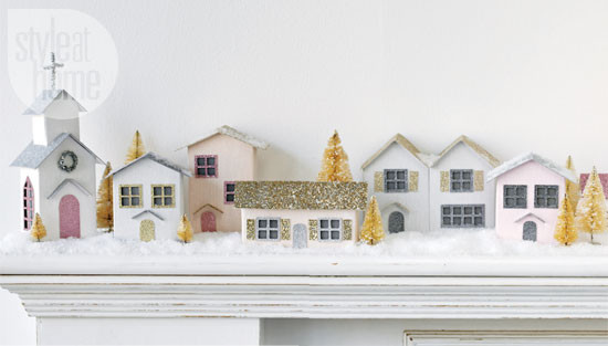 DIY Christmas Village  Christmas crafts Vintage paper houses