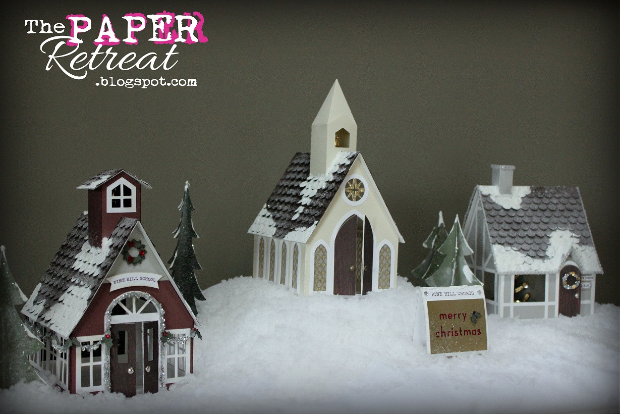 DIY Christmas Village  The Paper Retreat A Country Christmas Village & Tutorial