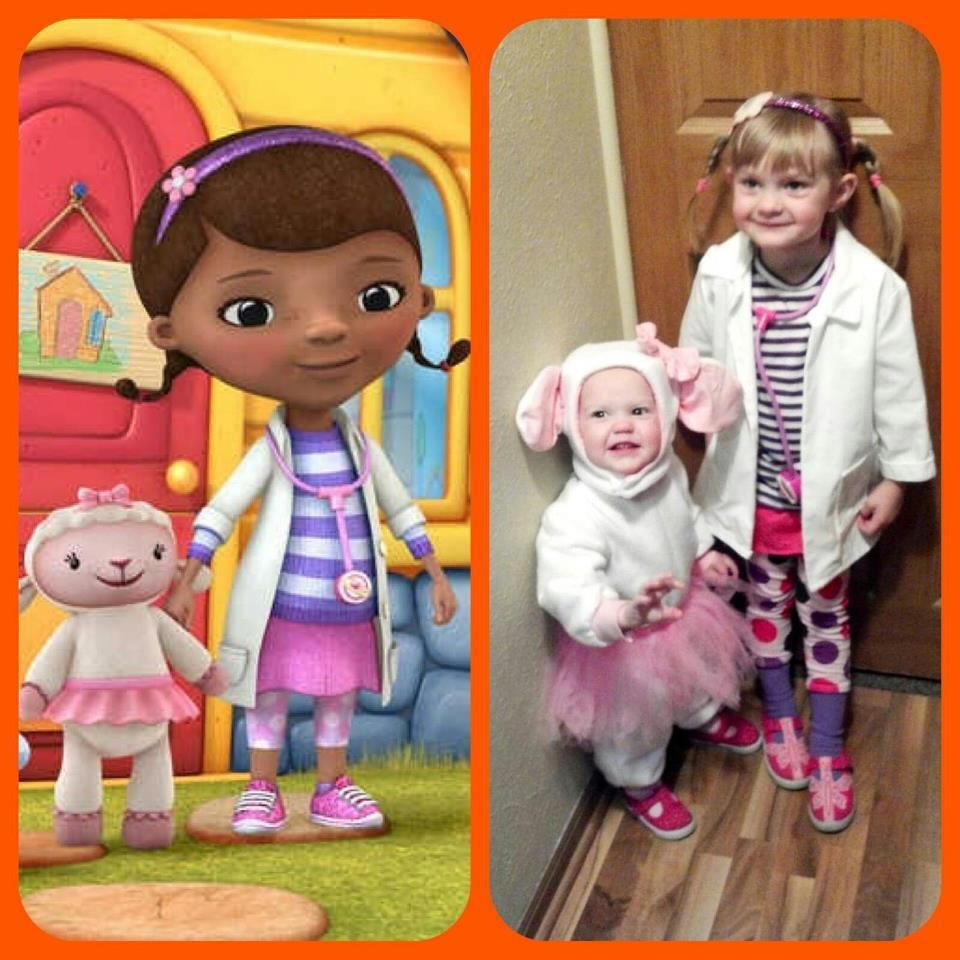 DIY Doc Mcstuffins Costume  Doc McStuffins and Lambie I can see Anna dressing up as
